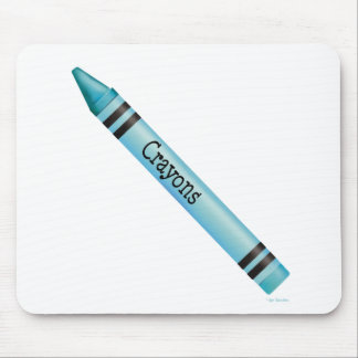 Aqua Crayon Mouse Pad
