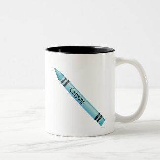 Aqua Crayon Mug