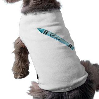 Aqua Crayon Pet T-shirt