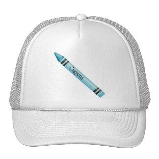 Aqua Crayon Trucker Hat