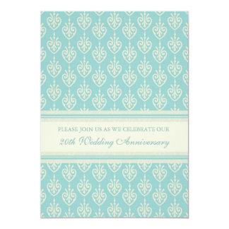 Aqua Cream 20th Anniversary Party Invitation