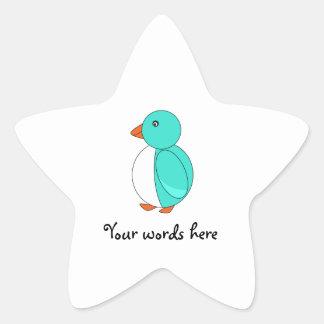 Aqua cute penguin stickers