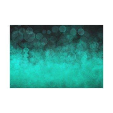 Aqua Aqua Cyan Spotted - Canvas Print