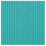 [ Thumbnail: Aqua & Dark Cyan Colored Stripes/Lines Pattern Fabric ]