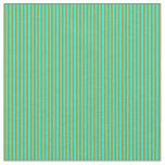 [ Thumbnail: Aqua & Dark Goldenrod Striped Pattern Fabric ]