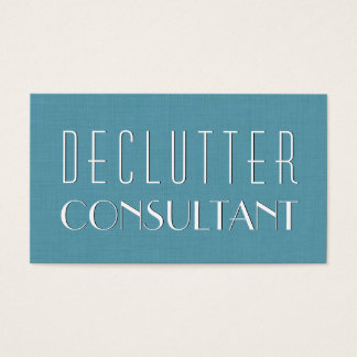 Aqua DECLUTTER CONSULTANT Simple Style V08 Business Card