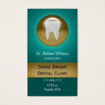 aqua Dental businesscards with appointment card