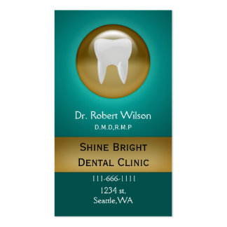aqua Dental businesscards with appointment card Business Card