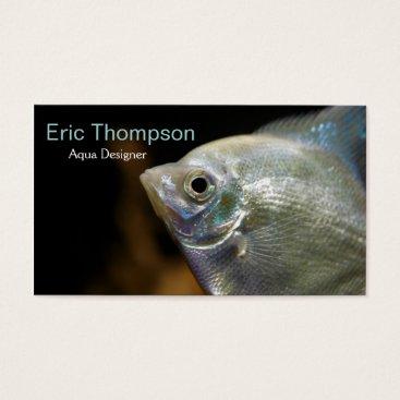 Professional Business Aqua Designer Business Card