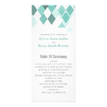 Aqua diamonds Geometrical wedding programs