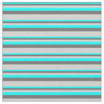 [ Thumbnail: Aqua, Dim Gray & Light Grey Colored Stripes Fabric ]