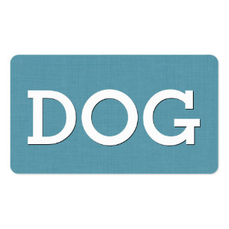 Aqua DOG SITTING Simple Style V63M Double-Sided Standard Business Cards (Pack Of 100)