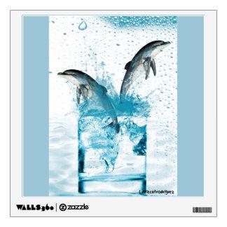 Aqua Dolphin Wall Decal
