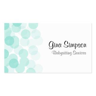 Aqua Dot Personalized Business Cards