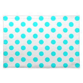 AQUA-DOTS! (a polka dot design) ~ Cloth Place Mat