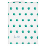Aqua Dots Hello Card
