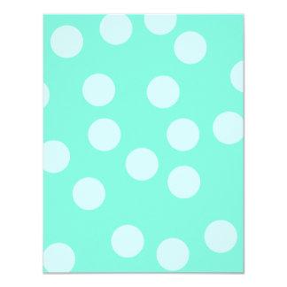 Aqua Dotty Pattern. Card