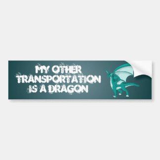 Aqua Dragon Bumper Sticker