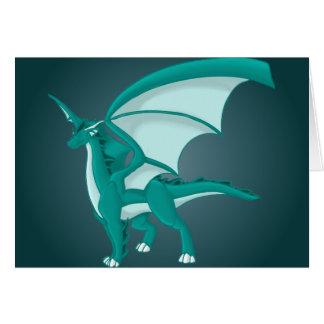 Aqua Dragon Card