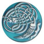 Aqua Dragon Knot Plate