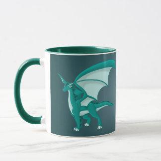 Aqua Dragon Mug