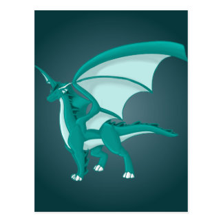 Aqua Dragon Postcard