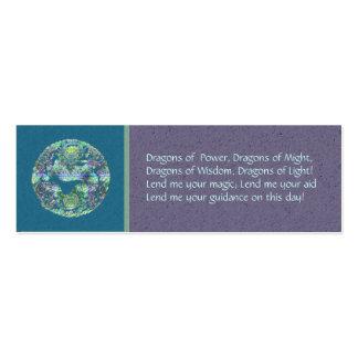 Aqua Dragon Spell Card Mini Business Card