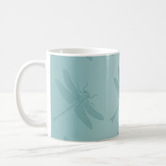 Aqua Dragonfly Coffee Mugs