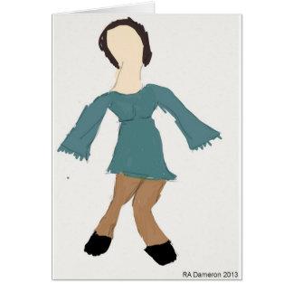Aqua Dress Notecard