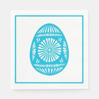 Aqua Easter Egg Classic Chic Paper Napkin