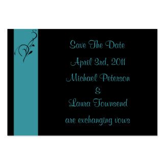 Aqua Elegance Mini Save The Date Card Large Business Cards (Pack Of 100)