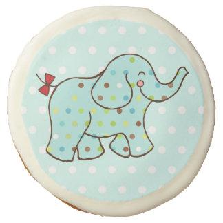 Aqua Elephant Cookies