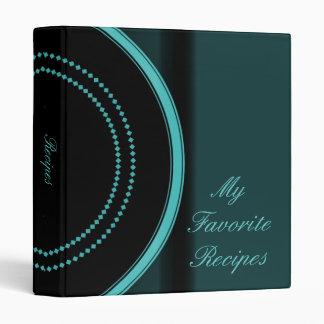 Aqua Emblem Recipe Book 3 Ring Binder
