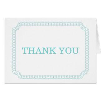 Aqua Encircled Ticket Thank You Card