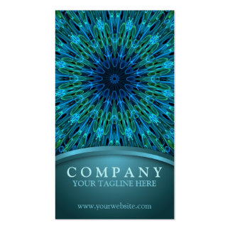 Aqua Explosion Double-Sided Standard Business Cards (Pack Of 100)