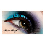 Aqua Eye Makeup Artist cosmetics Double-Sided Standard Business Cards (Pack Of 100)