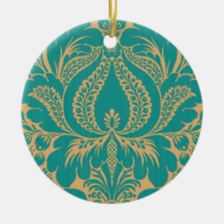 Aqua Fantasy Floral Ornament