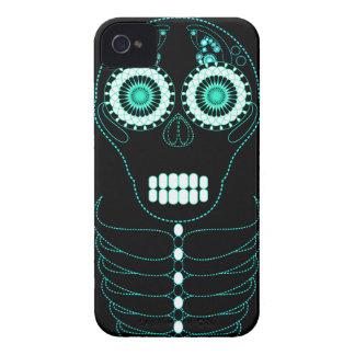 Aqua Fiesta Skull Black Case-Mate iPhone 4 Case