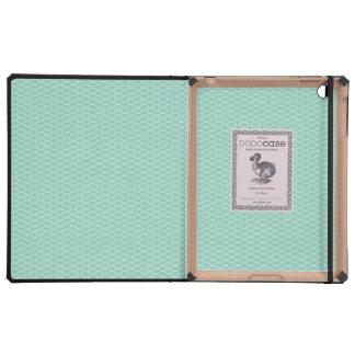 Aqua Fish Scales Pattern IPAD Dodo Book Case Covers For iPad