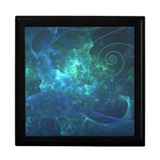 Aqua Flame Fractal Gift Box