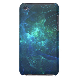 Aqua Flame Fractal iPod Touch Case