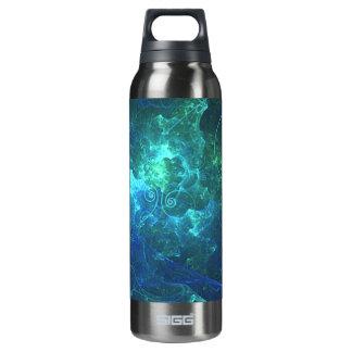 Aqua Flame Fractal Thermos Bottle
