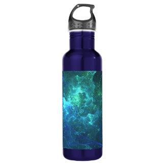 Aqua Flame Fractal Water Bottle