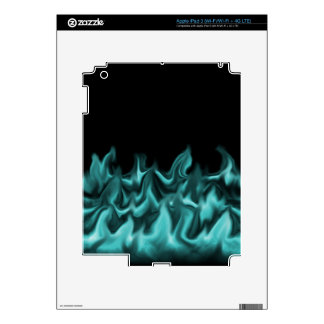 Aqua Flames iPad 3 Decal
