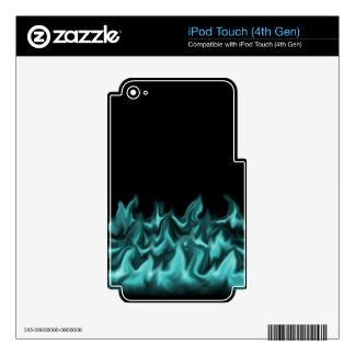 Aqua Flames iPod Touch 4G Skins