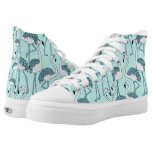 Aqua Flamingos High-Top Sneakers
