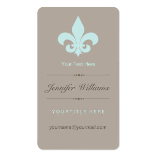 Aqua Fleur de Lis Business Card