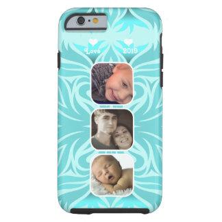 Aqua Floral iPhone 6  Instagram photo collage Tough iPhone 6 Case