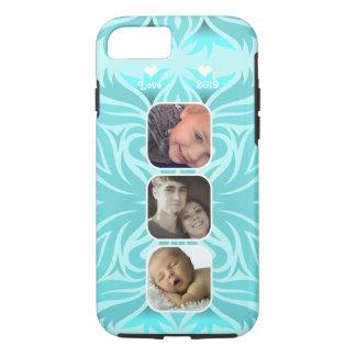 Aqua Floral iPhone 7  Instagram photo collage iPhone 7 Case