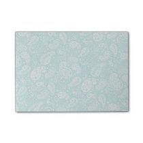 Aqua Floral Paisely Pattern Post-it Notes